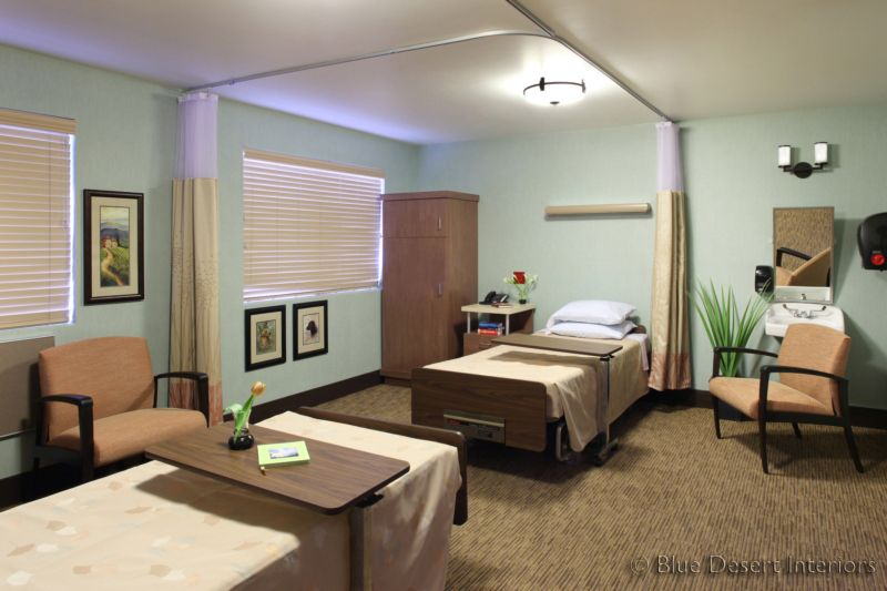 Blue desert interiors phoenix skilled nursing facility Nursing home architecture